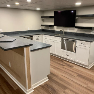 Basement Remodel with Bar & Laundry